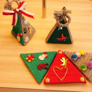 ズパゲッティでつくるクリスマスツリー&リース